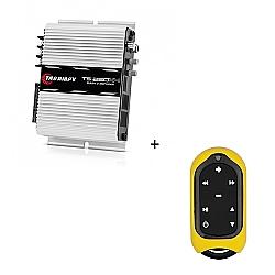 Comprar Módulo Amplificador 250w RMS com 4 canais - TS 250 X4 + Controle Longa Distância Amarelo - TLC 3000 Colors-Taramp´s