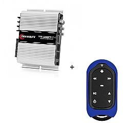 Comprar Módulo Amplificador 250w RMS com 4 canais - TS 250 X4 + Controle Longa Distância Azul - TLC 3000 Colors-Taramp´s