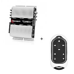Comprar M�dulo Amplificador 250w RMS com 4 canais - TS 250 X4 + Controle Longa Dist�ncia Branco - TLC 3000 Colors-Taramp�s