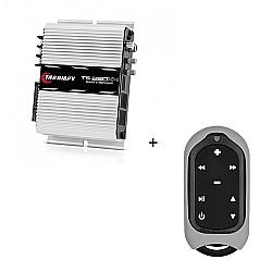 Comprar Módulo Amplificador 250w RMS com 4 canais - TS 250 X4 + Controle Longa Distância Cinza - TLC 3000 Colors-Taramp´s