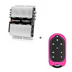 Comprar M�dulo Amplificador 250w RMS com 4 canais - TS 250 X4 + Controle Longa Dist�ncia Rosa - TLC 3000 Colors-Taramp�s