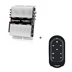 Comprar Módulo Amplificador 250w RMS com 4 canais - TS 250 X4 + Controle Longa Distância Preto - TLC 3000 Colors-Taramp´s