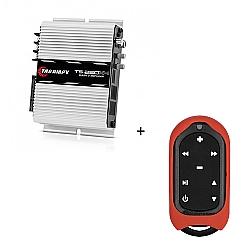 Comprar Módulo Amplificador 250w RMS com 4 canais - TS 250 X4 + Controle Longa Distância Vermelho - TLC 3000 Colors-Taramp´s