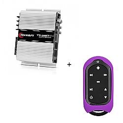 Comprar Módulo Amplificador 250w RMS com 4 canais - TS 250 X4 + Controle Longa Distância Violeta - TLC 3000 Colors-Taramp´s