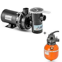 Comprar Motobomba Centrifuga NBF-0 / M 1 / 4CV 127 / 220VAC 60HZ - Com Capacitor + Filtro para Piscina, Até 16.000 L - F300P-Nautilus