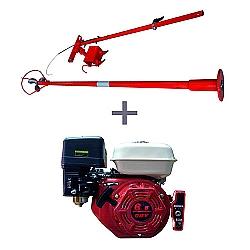 Comprar Motor a Gasolina 6,5 hp 4 tempos partida elétrica - NMG65E + Rabeta longa de aço master 1,7 metros-Nagano