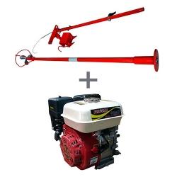 Comprar Motor a Gasolina 6,5 hp 4 tempos Partida Manual - NMG65 + Rabeta longa de a�o master 2,2 metros-Nagano