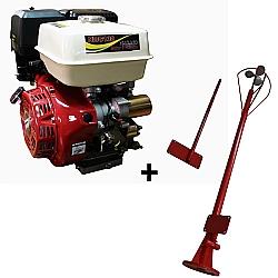 Comprar Motor a Gasolina 13 hp 4 tempos partida elétrica - NMG130E + Rabeta longa de aço master 1,7 metros-Nagano