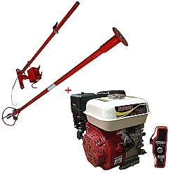 Comprar Motor a Gasolina 6.5 hp 196 cilindradas partida elétrica - nmg65e e Rabeta longa completa 2,2 m para motores 5,5/6,5/7,0 hp-Nagano