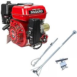 Comprar Motor a Gasolina 7 HP Partida Elétrica + Rabeta Curta Original 1,7m para Motores a Gasolina 5,5/6,5/7,0cv-Nagano