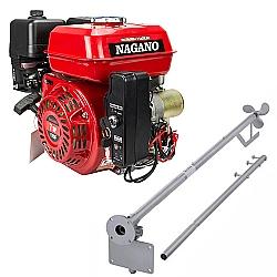 Comprar Motor a Gasolina 7 HP Partida Elétrica + Rabeta Curta Simples 1,7m para Motor a Gasolina 5,5/6,5/7,0cv-Nagano