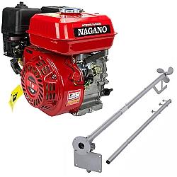 Comprar Motor a Gasolina 7 HP Partida Manual - NMG70 e Rabeta Curta Simples 1,7m para Motor a Gasolina 5,5/6,5/7,0cv-Nagano