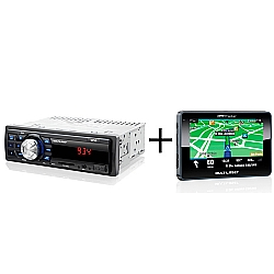 Comprar MP3 player automotivo multilaser one p3213 usb sd radio fm auxiliar com GPS automotivo tracker iii - tela 4.3'' - touchscreen - mp3 - radar - gp033-Multilaser