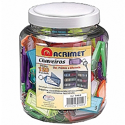 Comprar Organizador de Chaves Colorido - Pote com 120 Chaves-Acrimet