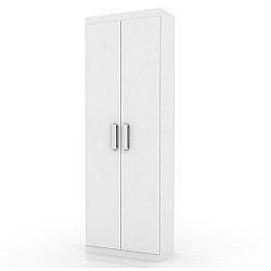 Comprar Organizador Delta, 2 Portas, Branco Brilhante, Puxadores Cromados-Lukaliam