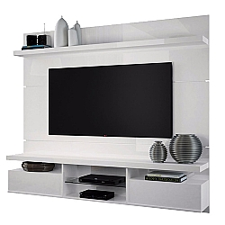 Comprar Painel Home Suspenso Livin 1.8 para TVs até 55 Pol, 2 Portas basculantes, Branco - 6152-HB Móveis