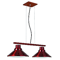 Comprar Pendente 2 L�mpadas Soquete E27 Vermelho-Pantoja e Carmona
