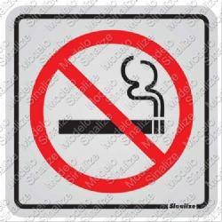 Comprar Placa de alum�nio 12x12 cm proibido fumar-Sinalize