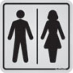 Comprar Placa de alum�nio 12x12 cm sanit�rio plus-Sinalize