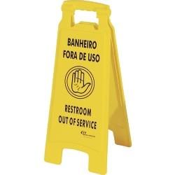 Comprar Placa de Sinalização ''Banheiro Fora de Uso'' - PL2002-Bralimpia