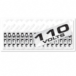 Comprar Placa sinalizadora Etiqueta de voltagem 110 V 5 x 25 cm-Sinalize