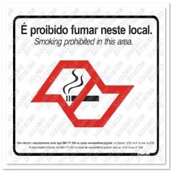 Comprar Placa sinalizadora Lei anti fumo S�o Paulo 20 x 30cm-Sinalize