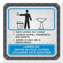 Comprar Placa sinalizadora Sanit�rio masculino 15 x 15 cm-Sinalize