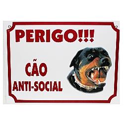 Comprar Placa - Cão Feroz , Perigo, Cão Anti-Social-Agrodog