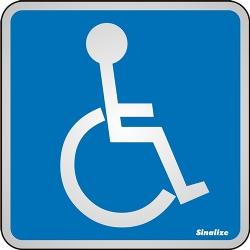 Comprar Placa de alum�nio 12x12 cm acessibilidade-Sinalize