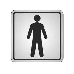 Comprar Placa de alum�nio 12x12 cm sanit�rio masculino-Sinalize