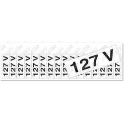 Comprar Placa sinalizadora Etiqueta de voltagem 127 volts 5 x 25cm-Sinalize