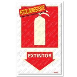 Comprar Placa sinalizadora Extintor 16 x 23cm-Sinalize