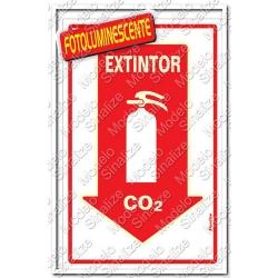Comprar Placa sinalizadora Extintor C02 20 x 30cm-Sinalize