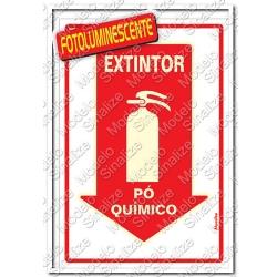 Comprar Placa sinalizadora Extintor Pó Quimico 20 x 30cm-Sinalize