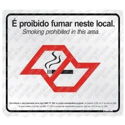 Comprar Placa sinalizadora Lei anti fumo sp 7 x 10 cm 2 unidades-Sinalize