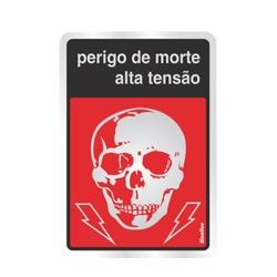 Comprar Placa sinalizadora Perigo de vida 16 x 23cm-Sinalize