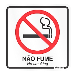 Comprar Placa sinalizadora Proibido fumar 15 x 15 cm-Sinalize