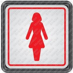 Comprar Placa sinalizadora Sanit�rio feminino 15 x 15 cm-Sinalize