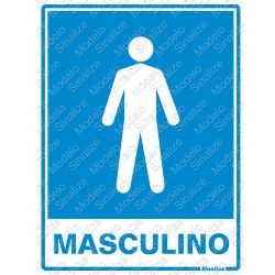 Comprar Placa sinalizadora Sanit�rio Masculino 15 x 20cm-Sinalize