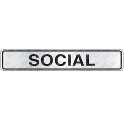 Comprar Placa sinalizadora Social 5 x 25 cm-Sinalize