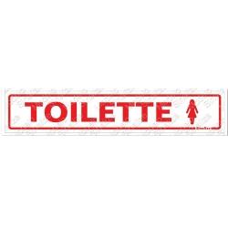 Comprar Placa sinalizadora Toilette Feminino 5 x 25cm-Sinalize