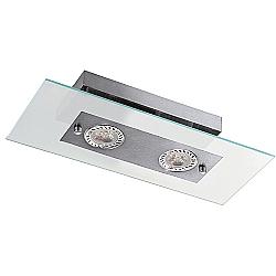 Comprar Plafon Retangular Angular 2 Lâmpadas Soquete GU10 Grafite-Pantoja e Carmona