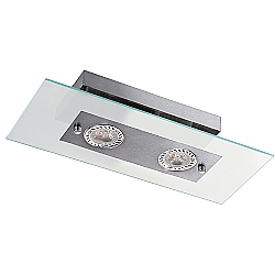 Comprar Plafon Retangular Angular 2 L�mpadas Soquete GU10 Grafite-Pantoja e Carmona