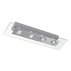 Comprar Plafon Retangular Angular 4 Lâmpada Soquete gu 10 Grafite-Pantoja e Carmona