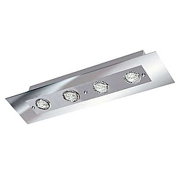 Comprar Plafon Retangular Angular Espelhado 4 Lâmpadas Soquete gu 10 grafite-Pantoja e Carmona