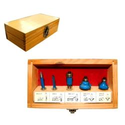 Comprar Pontas para tupia com 5 pe�as azul-Lee Tools