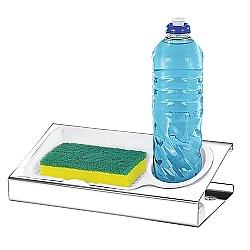 Comprar Porta Detergente Inox com Escorredor de Água-MAK-INOX