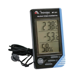 Comprar Relógio Termo-Higrômetro MT-241 - Interno/Externo-Minipa