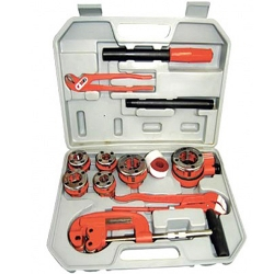 Comprar Rosqueador manual BSPT catracado 1/4 a 1.1/4 com 13 pe�as-Lee Tools