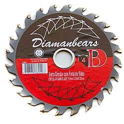 Comprar Serra de Madeira 110mm com Vídea 24 Dentes-Diaman Bears